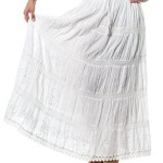 Alki'i Embroidered Full/Ankle Length gypsy bohemian long skirt