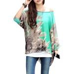 iecool Bohemian Hippie Batwing Sleeve Chiffon Blouse Loose Shirt Top