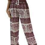 Bangkokpants Unisex Hippie Boho Elephant Pants One Size Red