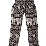 Bangkokpants Women's Yoga Clothing Elephant Pants Black Us Size 0-14