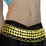 Gypsy Hippie Belly Dance Metal Dangling Coins Chains Belt Adjustable