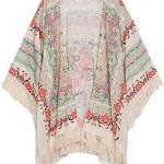 Amoin New Vintage Flower Tassels Shawl Cardigan Chiffon Kimono Cardigan Coats Jackets