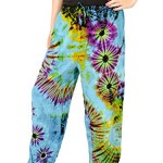 "Orient Trail Women's Hippie ""Cold"" Dyed Tie-dye Pajama Yoga Pants"