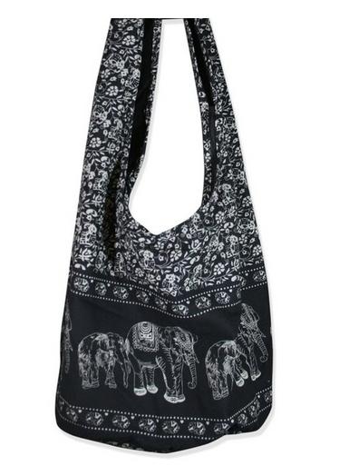 Hippie Elephant Crossbody Shoulder Bag