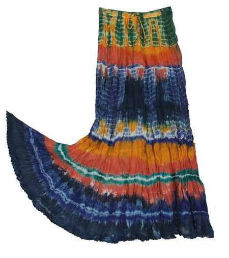 KayJayStyles Women's Hippie Boho Gypsy Tie-dye Long Skirt