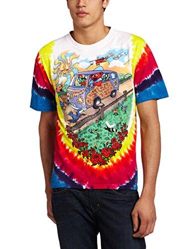 38c9c859 Liquid Blue Men's Grateful Dead Summer Tour Bus T-Shirt | Hippie ...