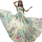 MedeShe Women's Summer Floral Long Beach Maxi Dress Lightweight Sundress