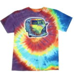 Volkswagen VW Van Tie Dye Licensed Graphic T-Shirt