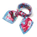 Soft Satin Square Scarf Paisley Pattern Silk Feel Hair Wrap Neckerchief Free Gift Box
