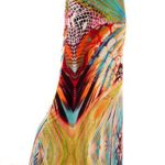 Palazzo Fashion Women's Multi Colored Abstrat Print Maxi Skirt