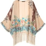 New Vintage Flower Tassels Shawl Cardigan