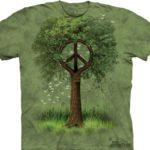 Tie Dyed Shop Peace Sign Tie Dye T Shirt- Roots of Peace – Small to 5X