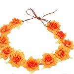 Floral Fall Rose Flowers Headband Wedding Festivals Crown BOHO Headpieces