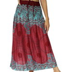 NaLuck Women's Long Hippie Bohemian Skirt Color Boho Skirts