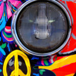Colorful car paint on Volkswagen T2