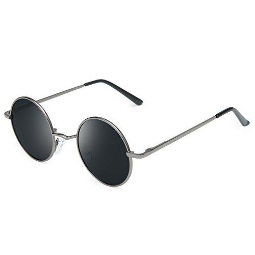 Joopin-Round Retro Polaroid Sunglasses Driving Polarized Glasses Men Steampunk
