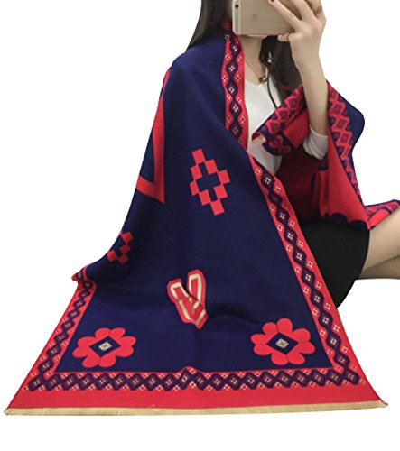 King's Love Vintage Blanket Large Scarf Warm Pashmina Shawls and Wraps For Women