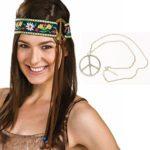 Rubie's Costume Peace Sign Headband, Peace Sign Necklace Bundle