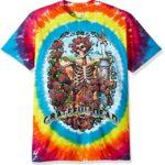 Liquid Blue Men's Grateful Dead Rainbow Bertha Tie Dye Short Sleeve T-Shirt