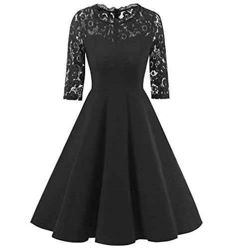 3d26dd0130 Kangma Women Floral Lace Formal Cocktail Party Long Sleeve Prom Bridesmaid  Dress