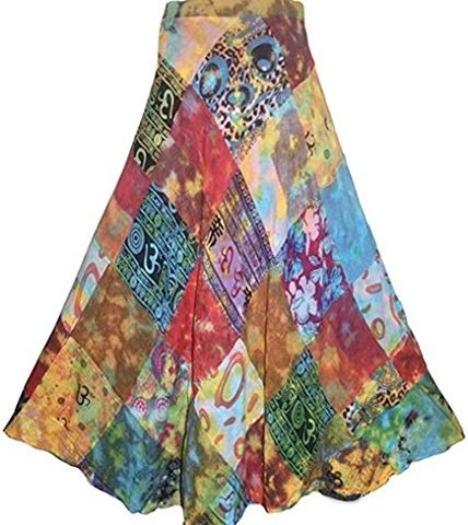 47e0a4514a1 400 WS Agan Traders Women s Hippie Gypsy Long Wrap Patch Cotton Boho  Renaissance Skirt Maxi · Hippie Clothes Shop ...